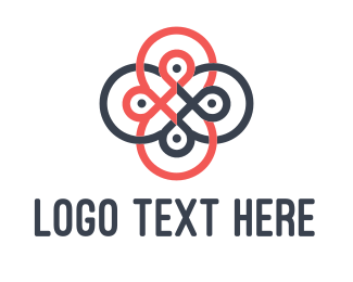 Ornamental - Loop Flower logo design