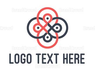 Outlines - Loop Flower logo design