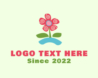 Preschool - Blooming Flower logo design