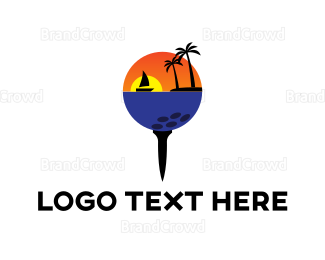 Swing - Golf Beach logo design