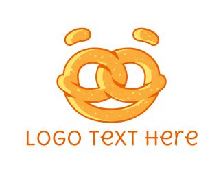 Biscuit - Pretzel Face logo design