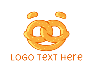 Biscuit - Pretzel Face logo design