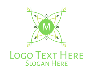 Natural Therapy - Green Plant Nature Lettermark logo design