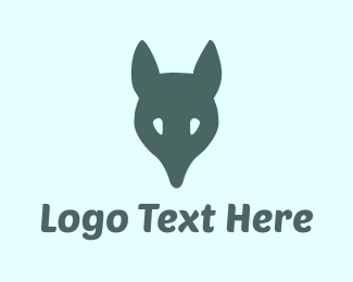 Canine - Fox Head logo design
