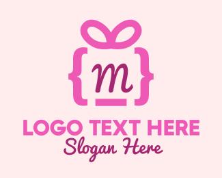 Pinkish - Pink Gift Code logo design