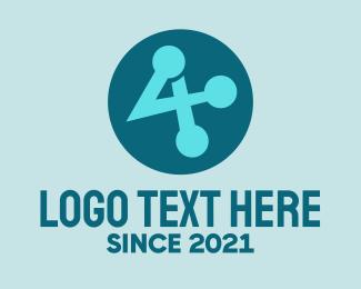 System - Modern Blue System Symbol logo design