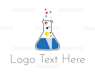 Beaker - Lab Bubbles logo design