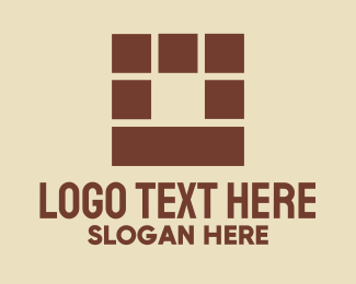 Brickwork - Brown Brick Wall logo design