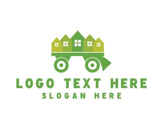 Town - Moving Truck logo design