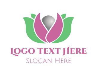 Pearl Flower Logo