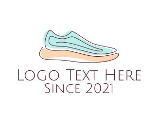 Runner - Sneaker Running Shoes logo design