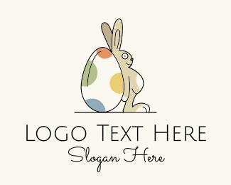Egg - Rabbit Egg Toy logo design