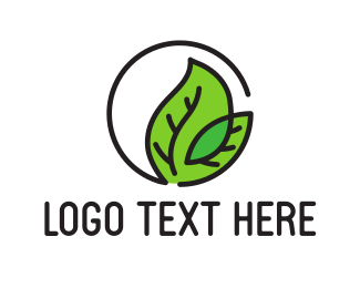 Massage - Leaf Outline G logo design