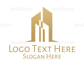 Edgy - Luxurious Golden Towers logo design