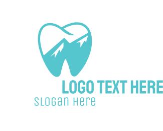 Tooth - Dental Mountain Tooth logo design