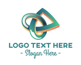 Knot - Three-Dimensional Knot logo design