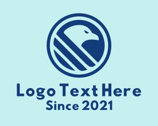 Esports - Blue Hawk Emblem logo design