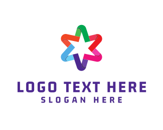 Five Star - Colorful Star logo design