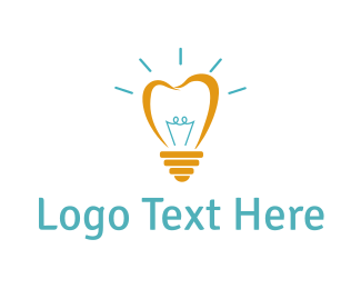 Dental Bright Light Tooth logo design