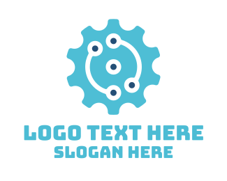 Gears - Industrial Engineering Cog logo design