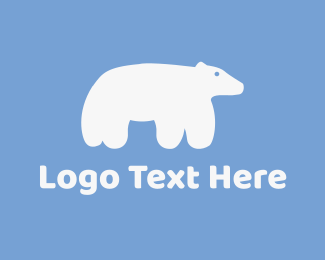 Cute Polar Bear Logo