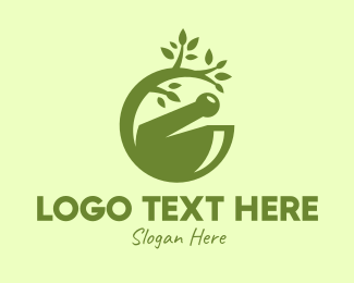 Natural Healing - Traditional Medicine Cure logo design