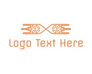 Barley - Modern Rice Grain logo design