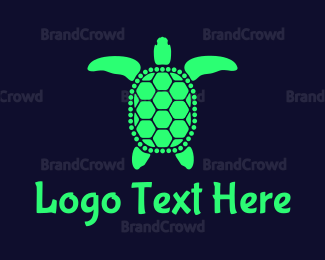 Reptile - Green Sea Turtle logo design