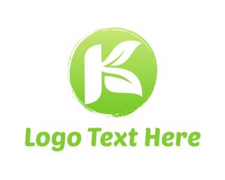 Letter K - K Leaves logo design
