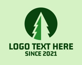 Forest - Pine Forest Nature logo design