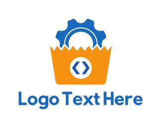 Code - Gear Code logo design