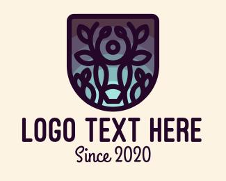 Events - Deer Twilight Shield logo design