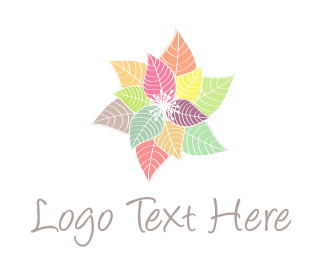Colorful Flowers Logo