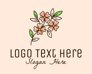 Botanical Product - Minimalist Flower Line Art  logo design