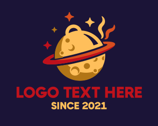 Space - Space Food Planet logo design