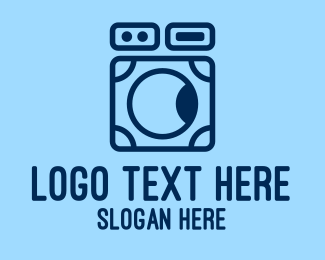Washing Machine - Simple Washing Machine  logo design
