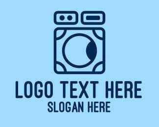 Machine - Simple Washing Machine logo design
