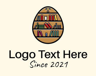 Dictionary - Book Shelf Egg logo design
