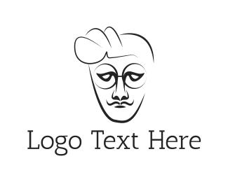 Barbershop - Hipster Man logo design