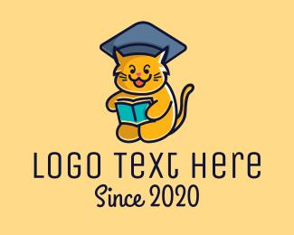 School - Cat School Training logo design