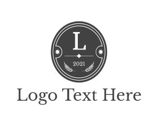 Letter - Classic Circle Badge logo design