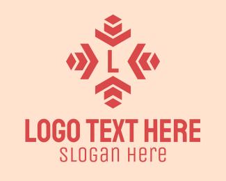 Transfer - Red Direction Lettermark logo design