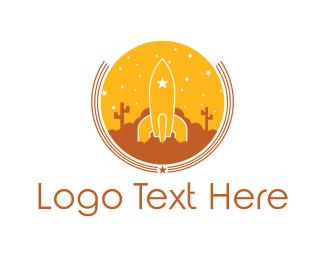 Cactus - Desert Rocket logo design