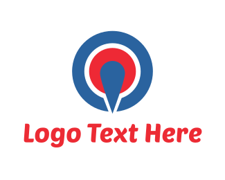 Aviation - Red & Blue Target Switch logo design