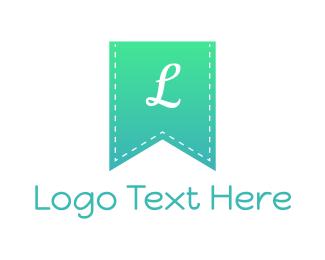 Knitting - Grandient Blue Flag logo design