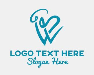 Vape Juice - Vape Smoke Letter W  logo design