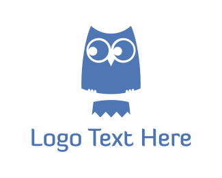 Connect - Blue Cute Owl logo design