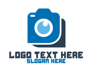 Picture - Blue Photography Camera logo design