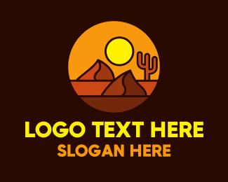 Plain - Desert Sand Mountains  logo design
