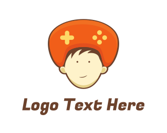 Games - Orange Hat Controller logo design